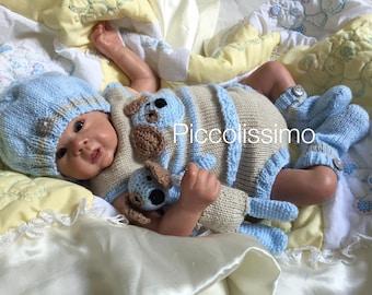 Knitting Pattern - 4 piece doggy set newborn size