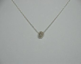 Sterling Silver Knot / Rose Necklace