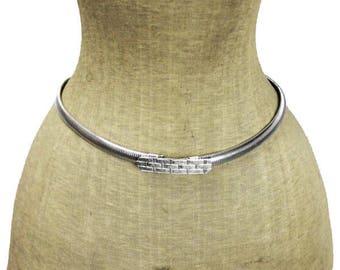 Silver Omega Chain Belt, Silver Chain Belt, Thin Silver Belt, Vintage Silver Belt