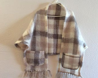 Irish wool coverlet cape jacket pure new wool