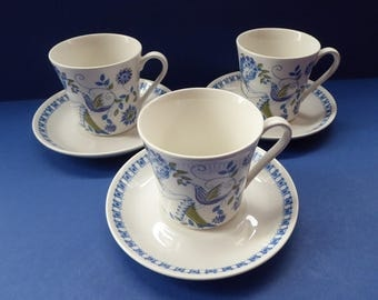 Nice Set of THREE Figgjo Flint: Turi Design / Lotte Cups and Saucers