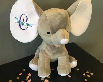 Baby Shower Gift, Baby Gift, Custom Baby Gift, Personalized Baby Gift, Elephant, Stuffed Animal, Toy with Baby Name, Stuffed Elephant