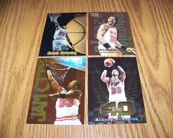4 Vintage Alonzo Mourning (Miami Heat) Basketball Cards