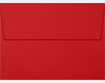 Valentine Card Envelopes RED - Set of 20 Premium - Size A1 - 70lb - Kids Classroom Valentine Card Envelopes