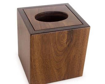 Tall Tissue Box Cover - Beech, Walnut, Oak, Cherry