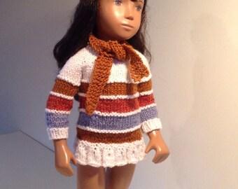 Striped tunic dress, hat and half
