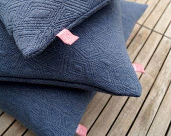 Pillow knit blue 50 x 50 cm