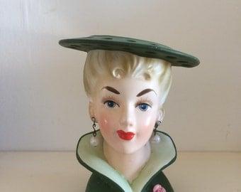 Relpo 1950's Ceramic Vintage Head Vase
