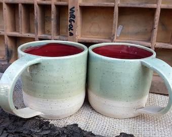 Coppia di tazze da tè / handmade tea cups / stoneware cups / tea time / tazze con manico
