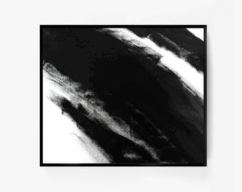 Large Abstract Painting, Abstract Wall Art, Abstract Poster, Black and White Framed Art, Extra Large Print, Simple Art, Minimalist Abstract