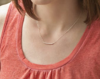 Kelly - Sterling Silver Tube Necklace