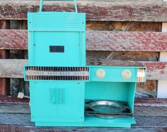 Vintage Original Turquoise Easy Bake Oven