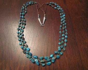 Kingman Turquoise Necklace with Sterling
