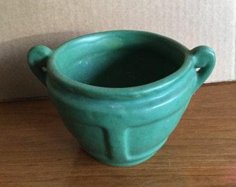 1920's Roseville Arts and Crafts Matte Green Glaze Jardinare