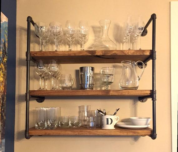 Industrial Metal Kitchen Shelves: Industrial 24 Kitchen Or Bathroom Floating Shelf Wall
