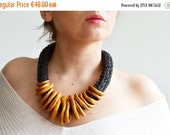 ON SALE Bib necklace statement/Golden Necklace/ Golden Statement Necklace/Golden Bib Necklace/African Necklace/Tribal Necklace/Ethnic neckla