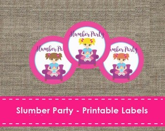 Slumber Party Labels - Printable - DIY - The Studio Barn