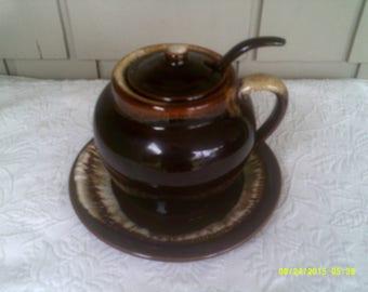 Vintage Pfaltzgraff Brown Drip Bean Pot Soup Tureen with Drip Plate, Brown Bean Pot, Brown Drip Soup, Pfaltzgraff Tureen, Handled Bean Pot