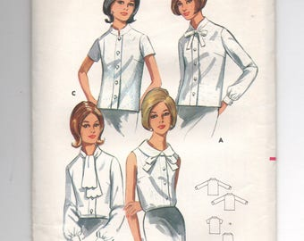 4409 Butterick Sewing Pattern Choice Collar Blouse UNCUT Size 12 32B Vintage  1960s
