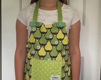 Big Girls Pear Printed Apron