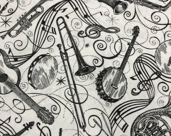 Musical Themed 100% Cotton Fabric