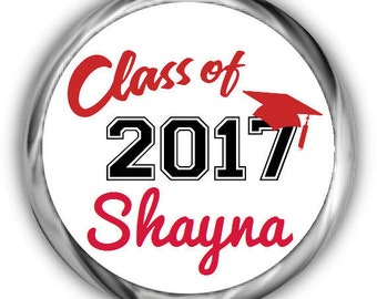 Class of 2018 Graduation Stickers • Personalized Graduation Sticker for Favors
