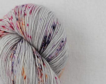 Hand-dyed yarn - sock yarn - superwash - merino - dyed-to-order - speckles - BOUQUET