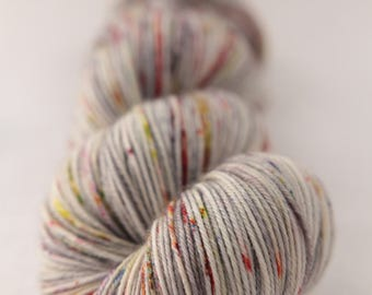 Hand-dyed yarn - sock yarn - superwash - merino - dyed-to-order - speckles - MARS