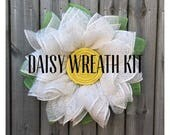 Daisy Wreath Kit, Burlap Wreath Kit, DIY Wreath, Daisy Wreath Tutorial