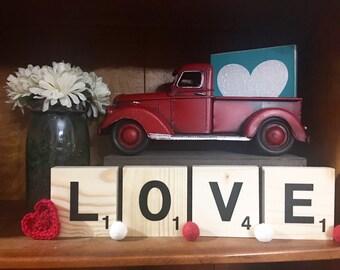 LOVE mini word blocks