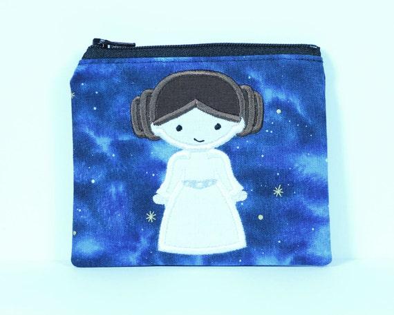 SALE Space Princess Coin Purse, Zipper Pouch, Wallet