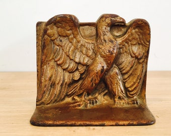 Vintage Gold Eagle Metal Bookend by DAL