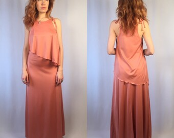 Vintage 1970's Maxi Dress Small