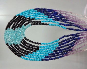 13.5-inch Disco Mix stones micro faceted beads size 3-4mm GW2838