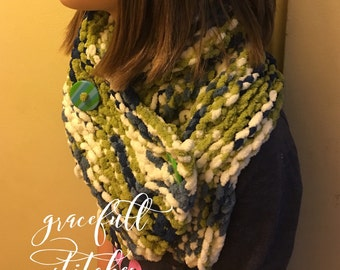 Super soft button cowl *** cowl *** button up scarf *** warm scarf