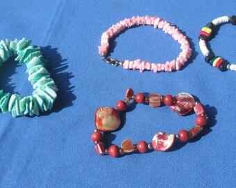 Lot Of Retro Assorted Shell Bracelets TLC