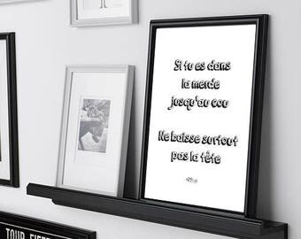 merde jusqu'au cou / poster / french only