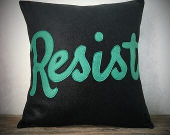 Resist Applique Bamboo Felt Pillow Case
