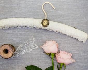 Ivory Lace Wedding Hanger, Lace Wedding Dress Hanger, Wedding Hanger, Lace Bridal Hanger, Wedding Hanger, Bridal Hanger
