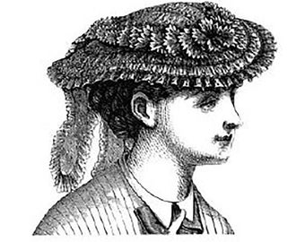 AG1406 - 1869 Figured Percale Garden Hat Sewing Pattern by Ageless Patterns
