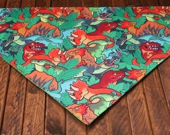 Extra Large Bandana with Velcro Closure - Dinosaurs