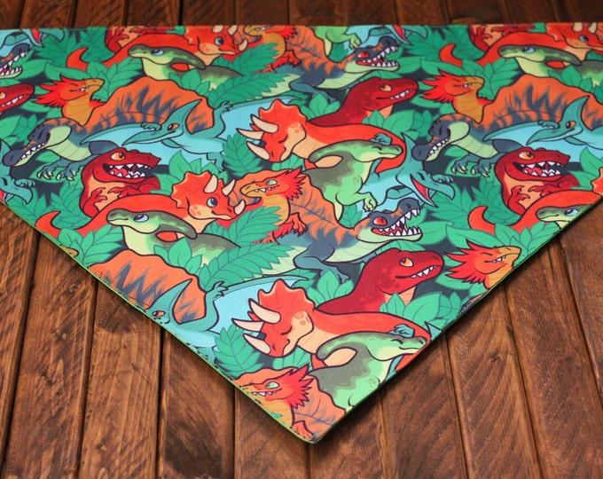 Extra Large Bandana with Velcro Closure - Dinosaurs
