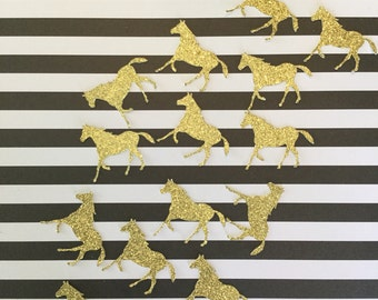 100 pcs Horse Confetti. Kentucky Derby Party. Derby Bridal Shower. Derby Decorations. Cowgirl Party. Horse Party Decorations. Pony Party.