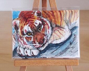 ACEO ORIGINAL - Golden Tiger