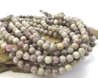 Lilac Stone, 8mm Purple Lilac Beads, Natural Multi-Colored Purple Beads, 8mm Purple Beads, 16 inch Strand, Item 959pm