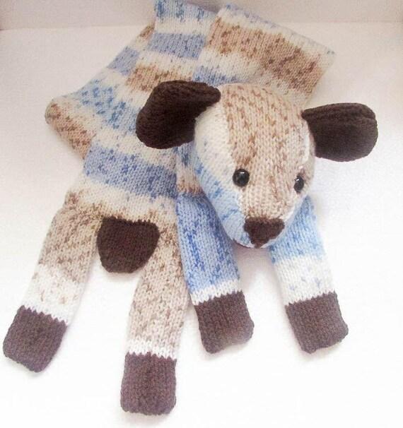 Knitting Pattern Teddy Bear Scarf Character Scarf neck warmer bear teddy anim...