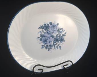 "Large Corelle Vintage Velvet Design Platter 12"" X 10"" Made in USA"