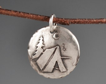 Tent camping totem-camping-under the stars-talisman-charm-amulet