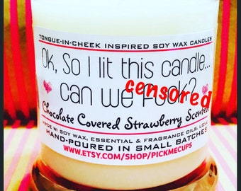 Mature- Valentine's Day Candle- Gift- So I lit this candle, can we F*ck?Gift for girlfriend- Gift for boyfriend- Funny Candles