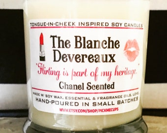 Golden Girls Candles- The Blanche Devereaux-  Chanel Scented Soy Candle- Golden Girls Gift- Mother's Day Gift- BFF GIFT
